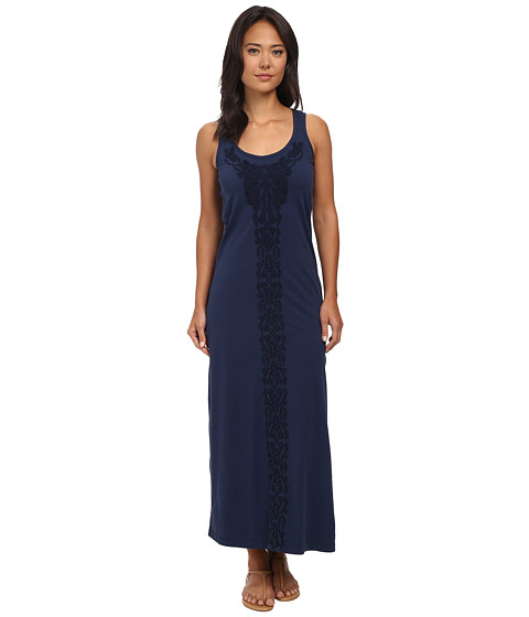 Mod-o-doc - Supreme Jersey Stonewash Embroidered Maxi Tank Dress (New Navy) Women