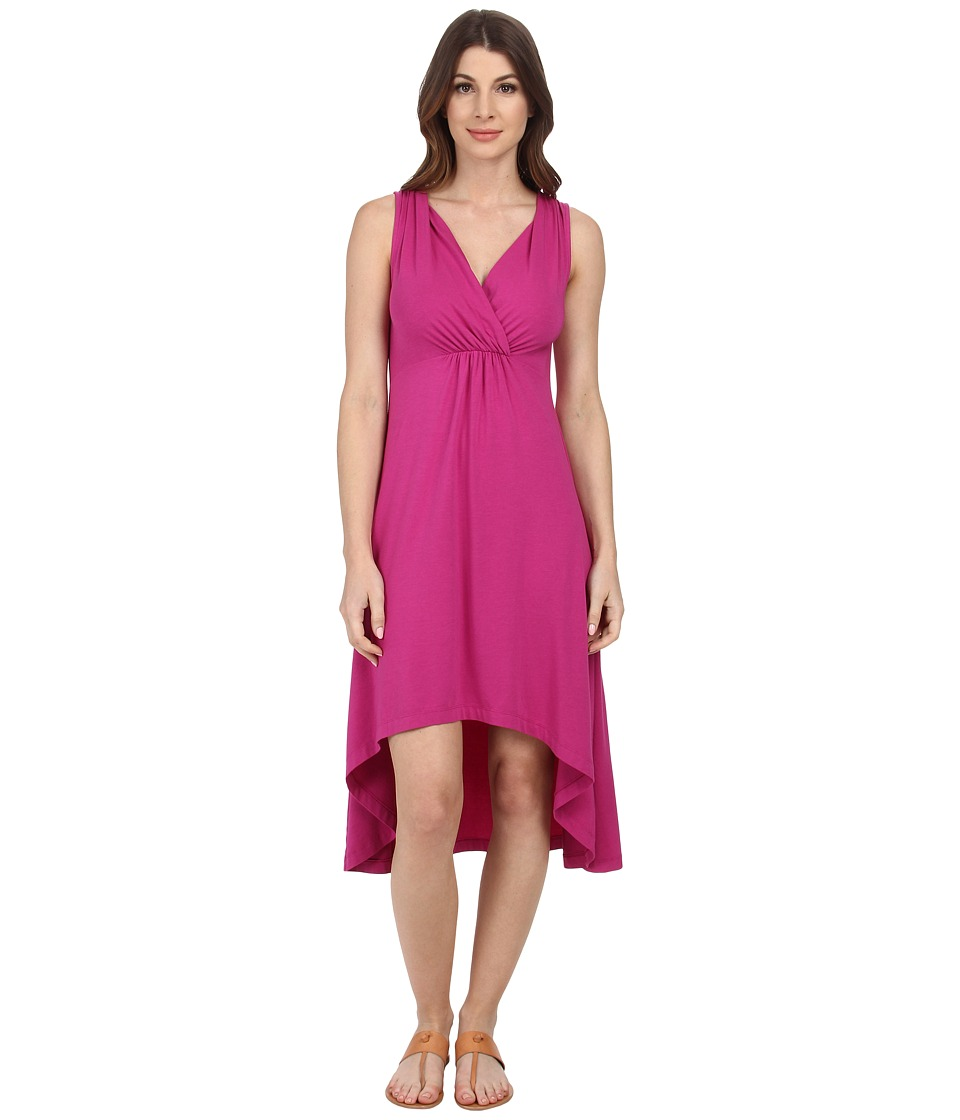 Mod-o-doc - Cotton Modal Spandex Jersey Shirred Empire Hi-Low Dress (Plume) Women's Dress