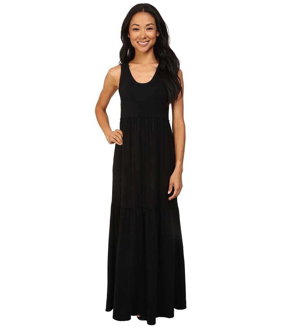 Mod-o-doc - Cotton Modal Spandex Jersey Tiered Maxi Tank Dress (Black) Women