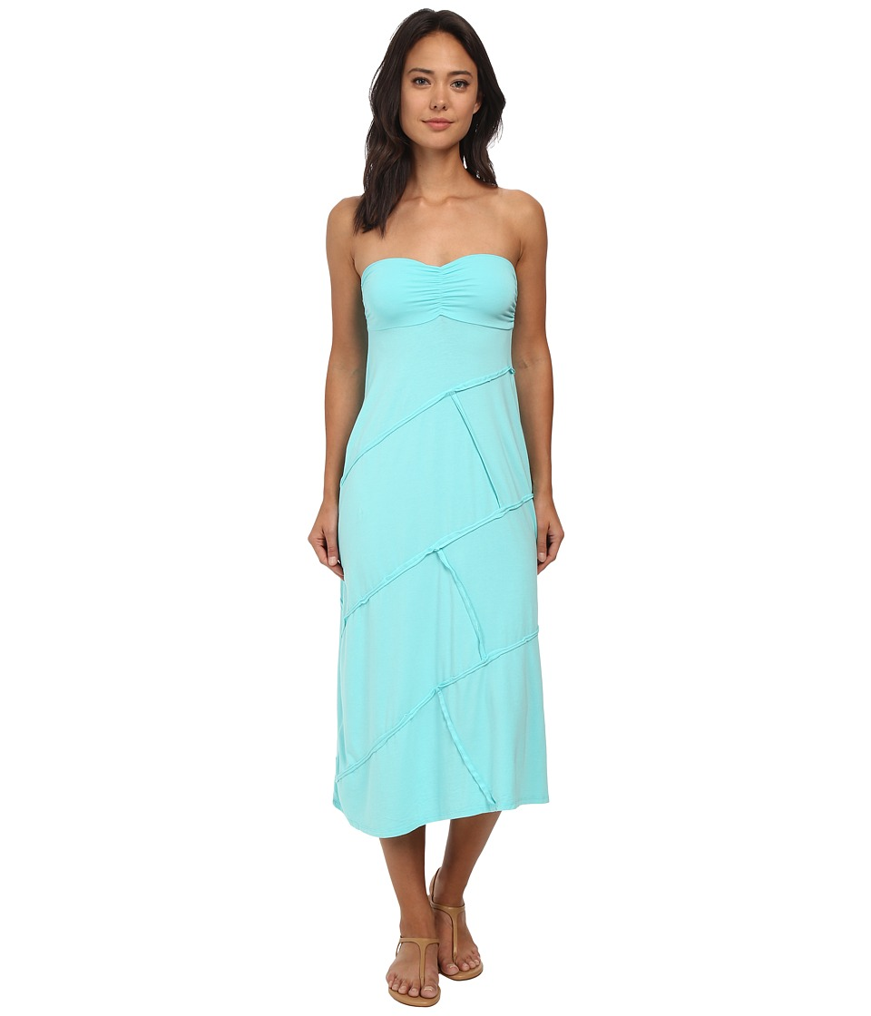 Mod-o-doc - Cotton Modal Spandex Jersey Seamed Maxi Skirt/Tube Dress (Atlantic) Women