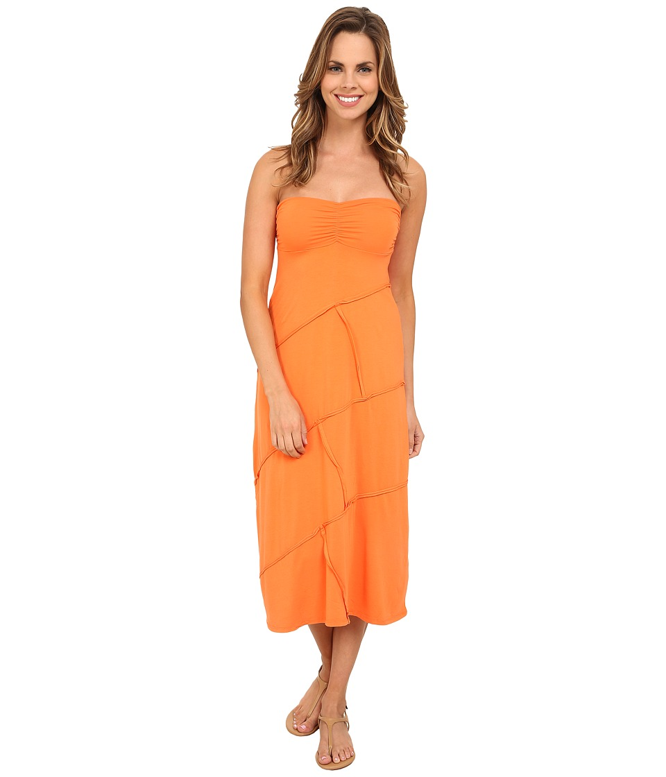 Mod-o-doc Cotton Modal Spandex Jersey Seamed Maxi Skirt/Tube Dress (Citrus) Women