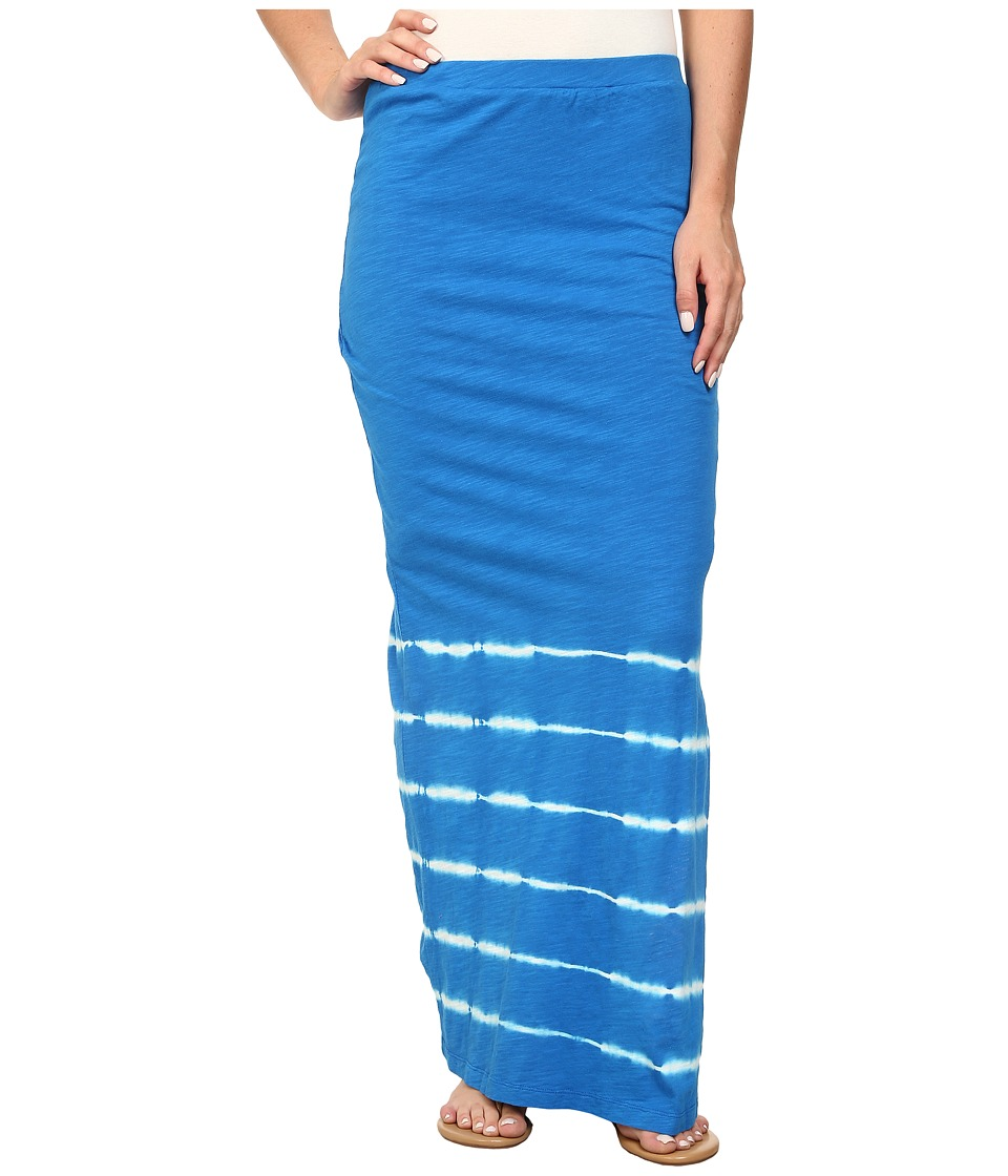 Mod-o-doc - Slub Jersey Tie-Dye Stripe Straight Skirt (Mirage) Women's Skirt
