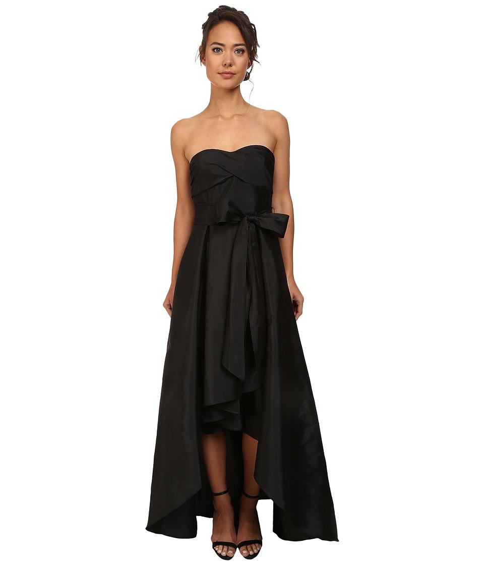 Adrianna Papell - Strapless High Lo Taffeta Ball Gown (Black) Women's Dress