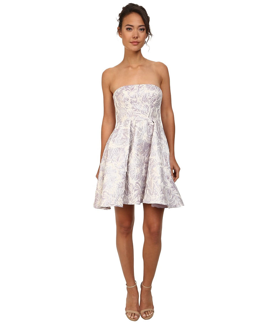 Adrianna Papell - Strapless Floral Jacquard Party Dress (Lilac) Women