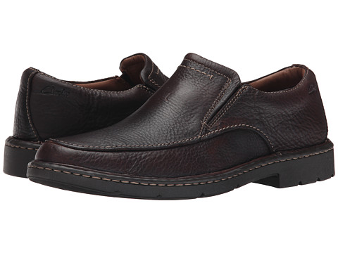 Clarks - Stratton Easy (Brown Leather) Men's Shoes