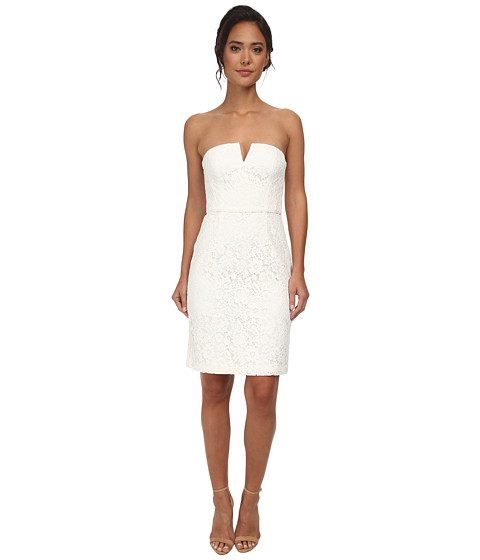Donna Morgan - Strapless Lace Short Dress (Ivory) Women's Dress
