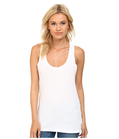 LAmade - Racerback Tank Top (White) Women's Sleeveless
