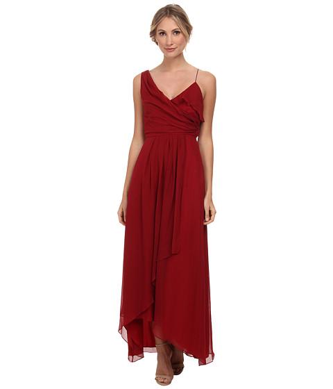JILL JILL STUART - Faux One Shoulder Drape Silk Chiffon Gown (Rosetta) Women's Dress