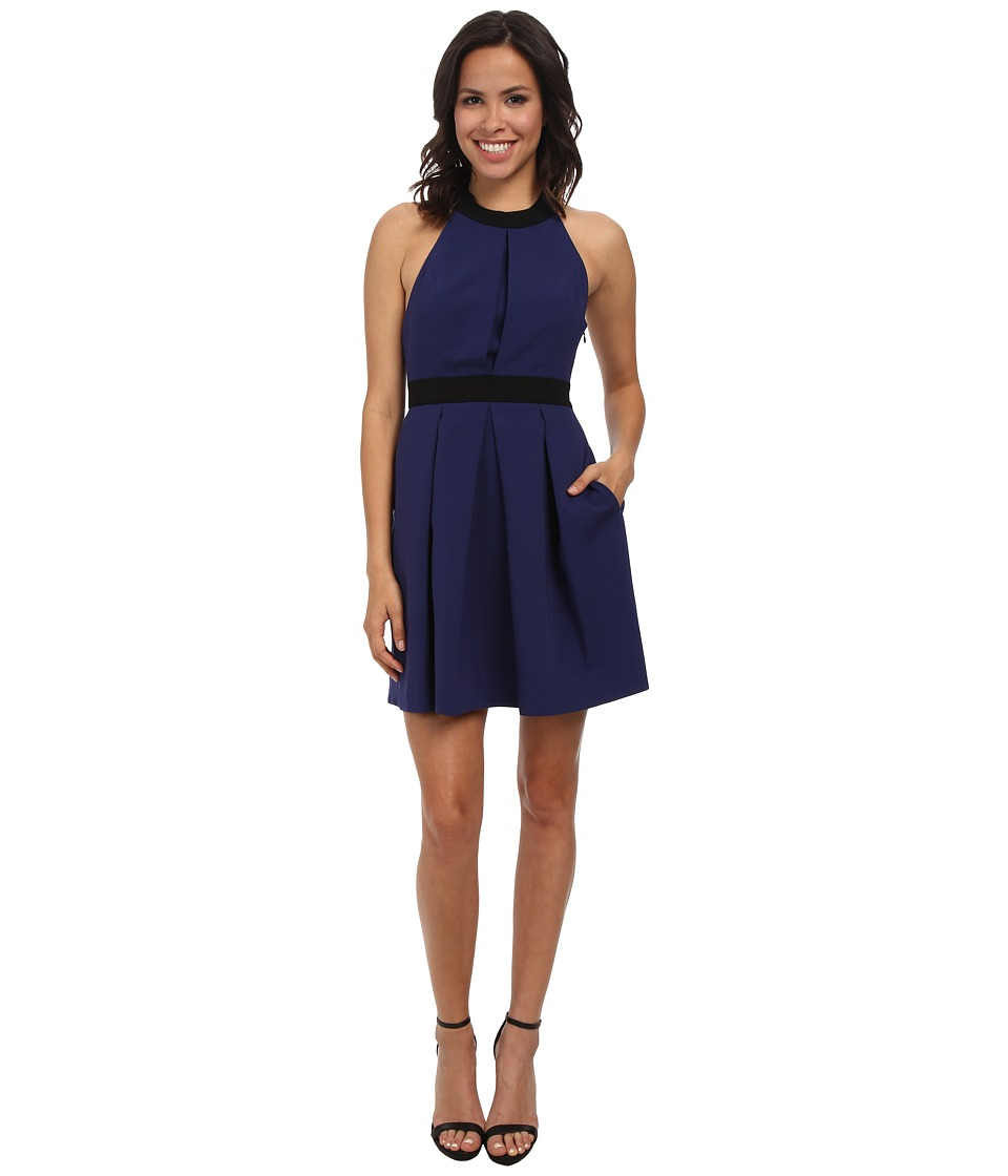 JILL JILL STUART Color Block T-Back Crepe Dress (Bluestone) Women