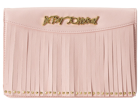 Betsey Johnson - On The Fringe Wallet On A String (Blush) Wallet Handbags