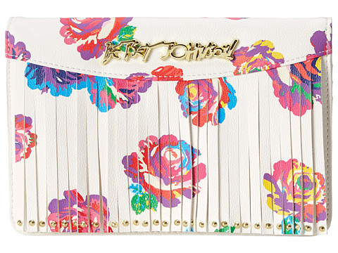 Betsey Johnson - On The Fringe Wallet On A String (Floral) Wallet Handbags