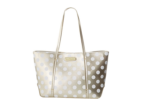 Betsey Johnson - Hocus Polkas Small Tote (Gold) Tote Handbags