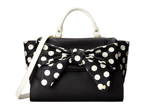 Betsey Johnson - Dots Enough Satchel (Black) Satchel Handbags