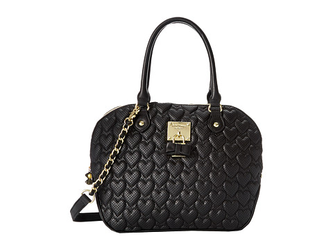 Betsey Johnson - Always Be Mine Dome Satchel (Black) Satchel Handbags
