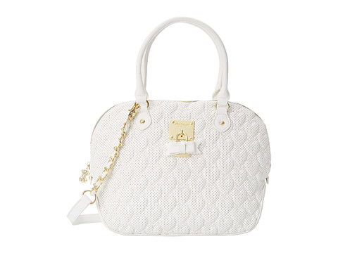 Betsey Johnson - Always Be Mine Dome Satchel (White) Satchel Handbags