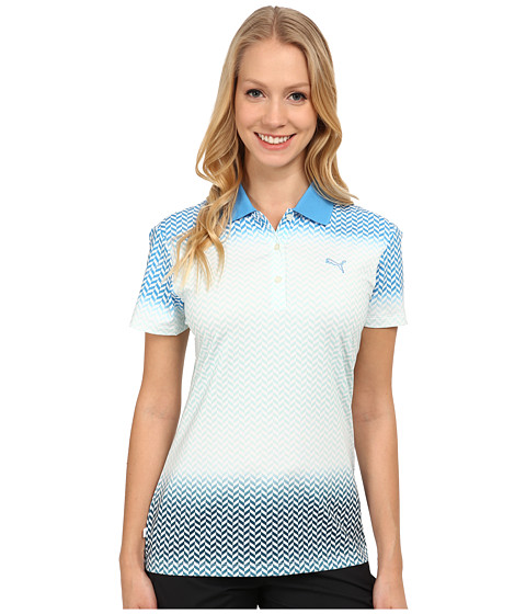 PUMA Golf - Chevron Fade Polo (Blithe) Women's Short Sleeve Knit
