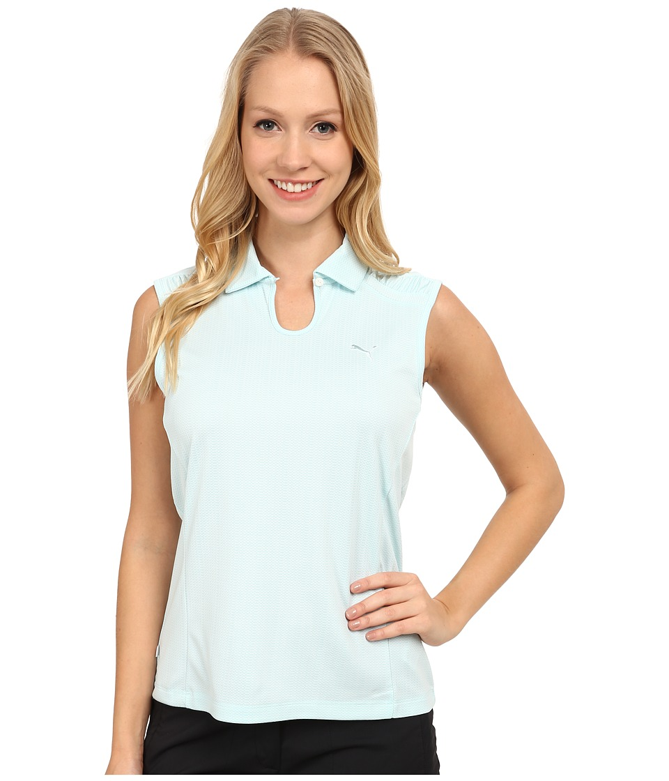 PUMA Golf - Key Sleeveless Polo (Clearwater) Women's Short Sleeve Knit
