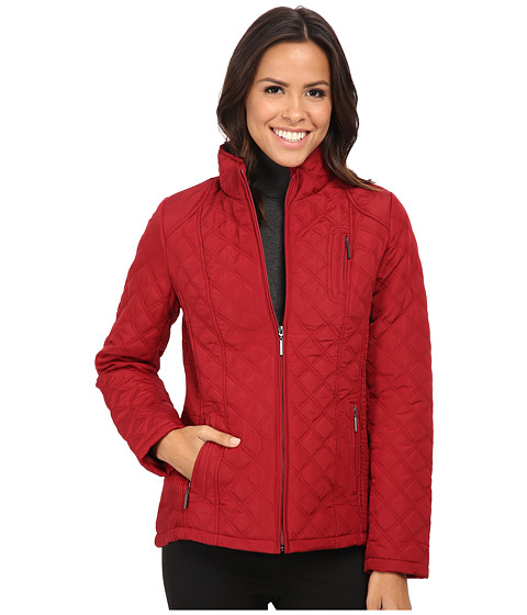 Weatherproof - Quilted Jacket w/ Side Rouching (Scarlet) Women