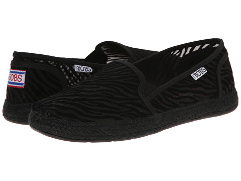 BOBS from SKECHERS - Flexpadrille - Animal Attraction (Zebra) Women's Slip on Shoes