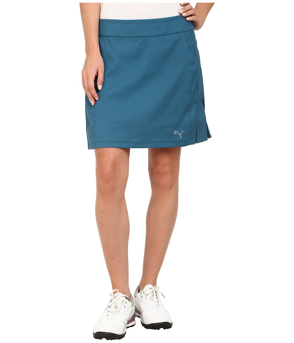 PUMA Golf - Pleated Skort (Blue Coral) Women's Skirt