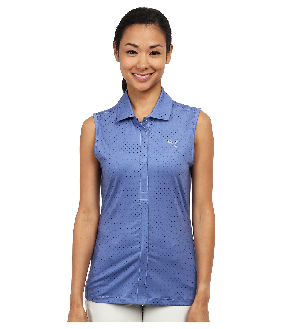 PUMA Golf - Dot Sleeveless Polo (Bleached Denim) Women's Sleeveless