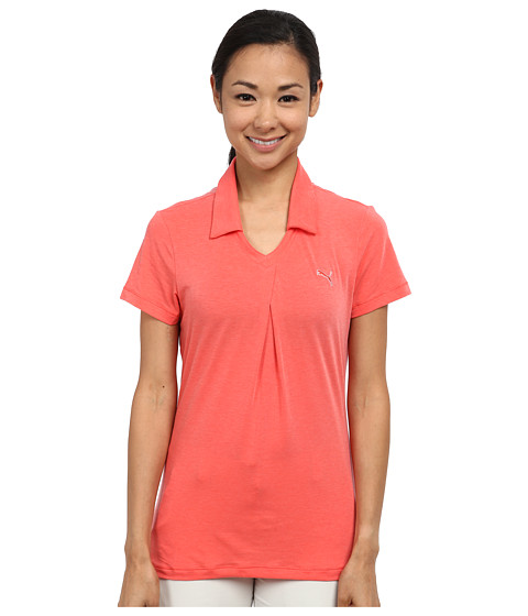 PUMA Golf - Pleat Polo (Cayenne Heather) Women