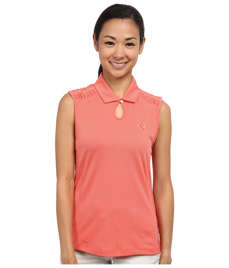 PUMA Golf - Key Sleeveless Polo (Cayenne) Women's Short Sleeve Knit