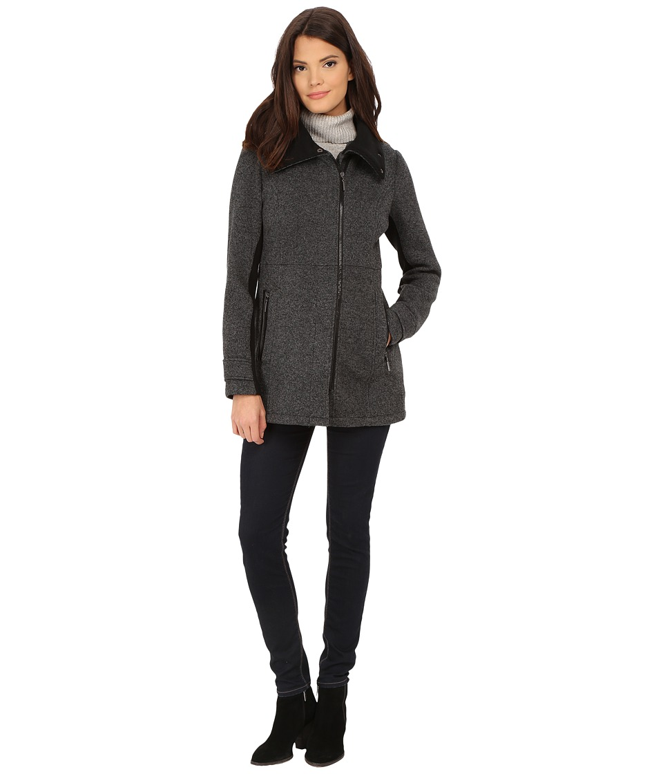 Weatherproof - Asymmetrical Sweater Jacket (Charcoal) Women's Coat