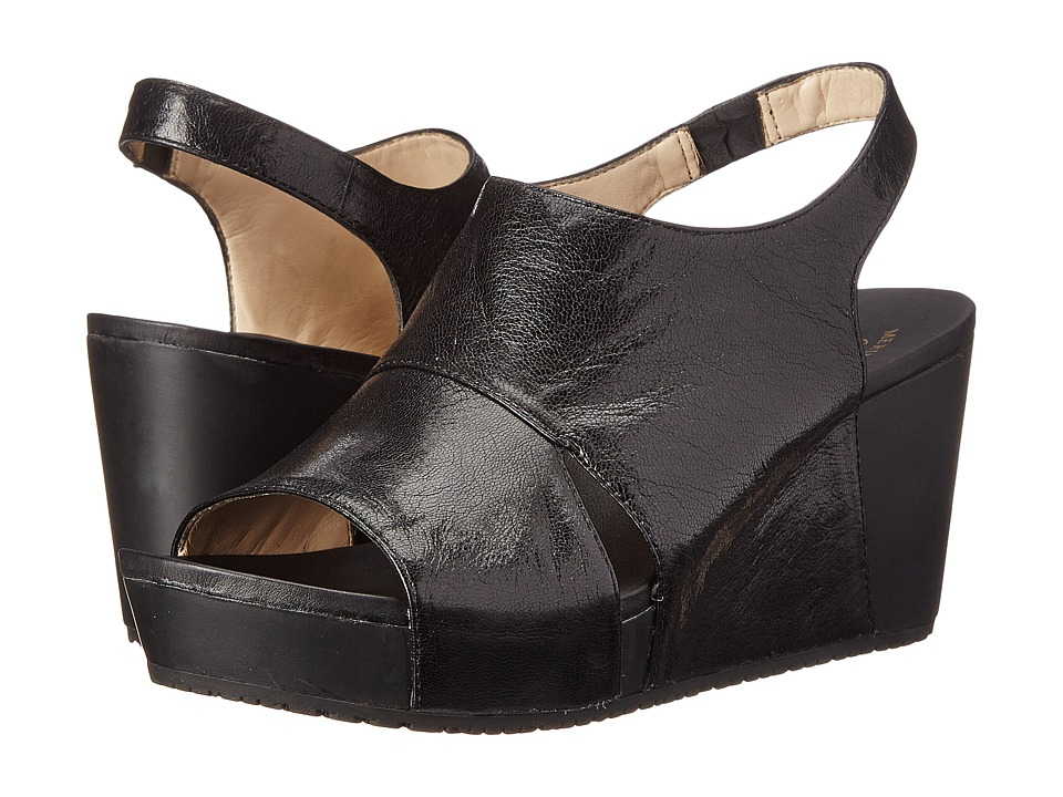 Dr. Scholl's - Weslyn - Original Collection (Black Leather) Women's Wedge Shoes
