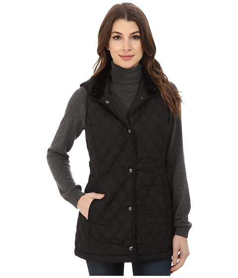 Weatherproof - Quilted 3/4 Vest (Black) Women