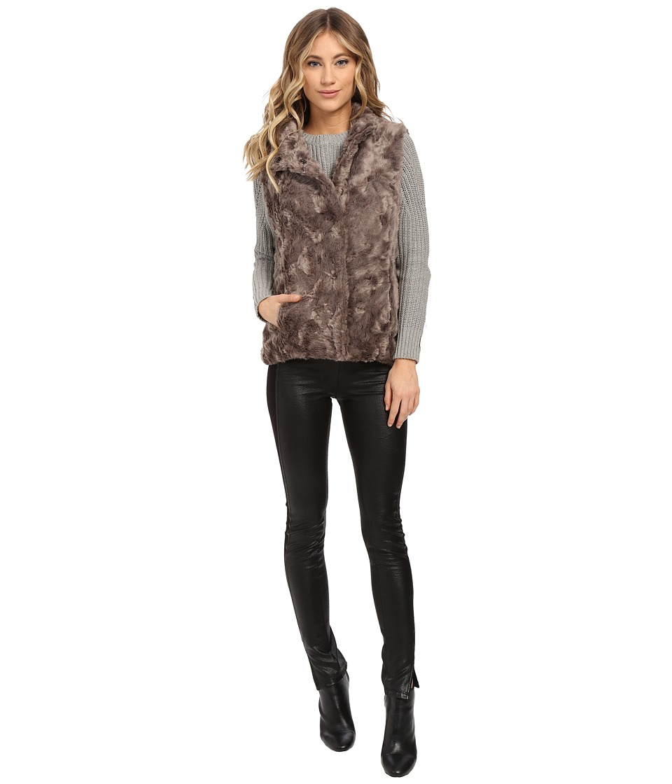 Weatherproof - Faux Fur Vest (Grey) Women's Vest