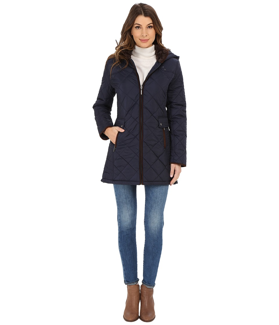 Weatherproof - City Jacket Walker (Dark Denim) Women's Coat