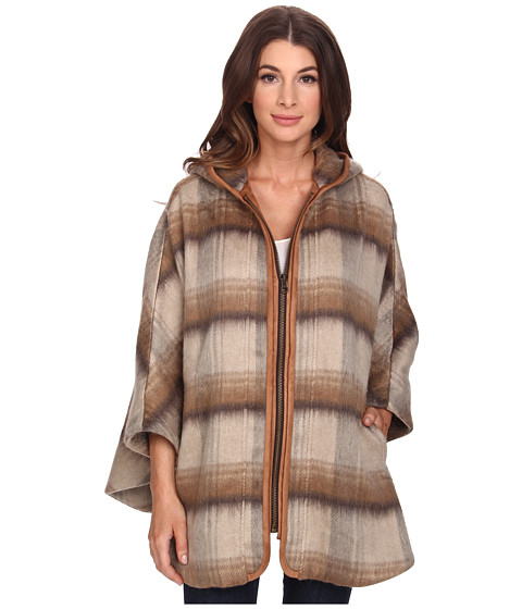 NYDJ - Abbey Road Plaid Cape (Vicuna) Women's Coat