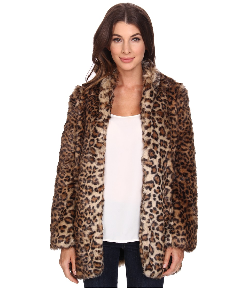 NYDJ - West End Cheetah Coat (Vicuna) Women's Coat