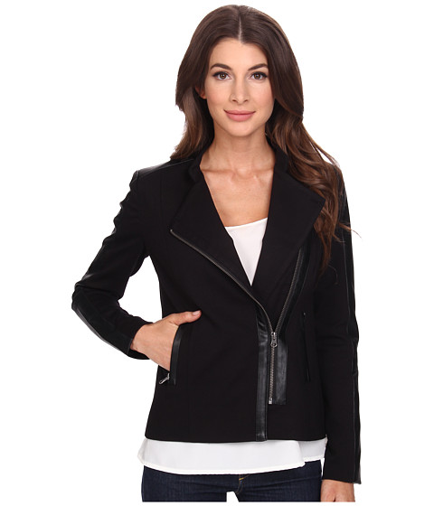 NYDJ - Ponte Moto Jacket (Black) Women's Jacket