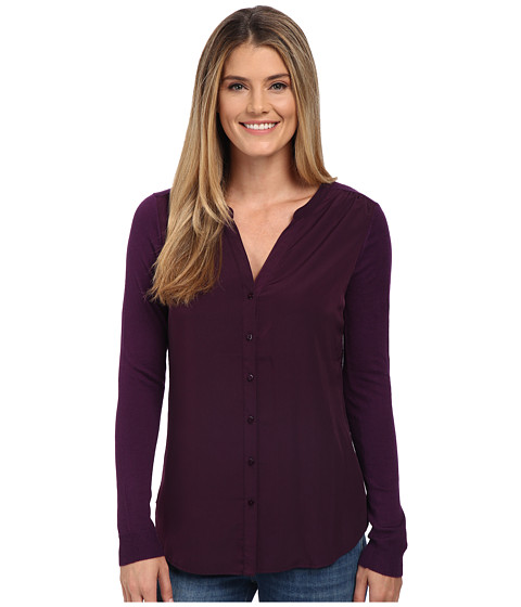 NYDJ - Woven Sweater Combo Cardigan (Blackberry) Women's Sweater