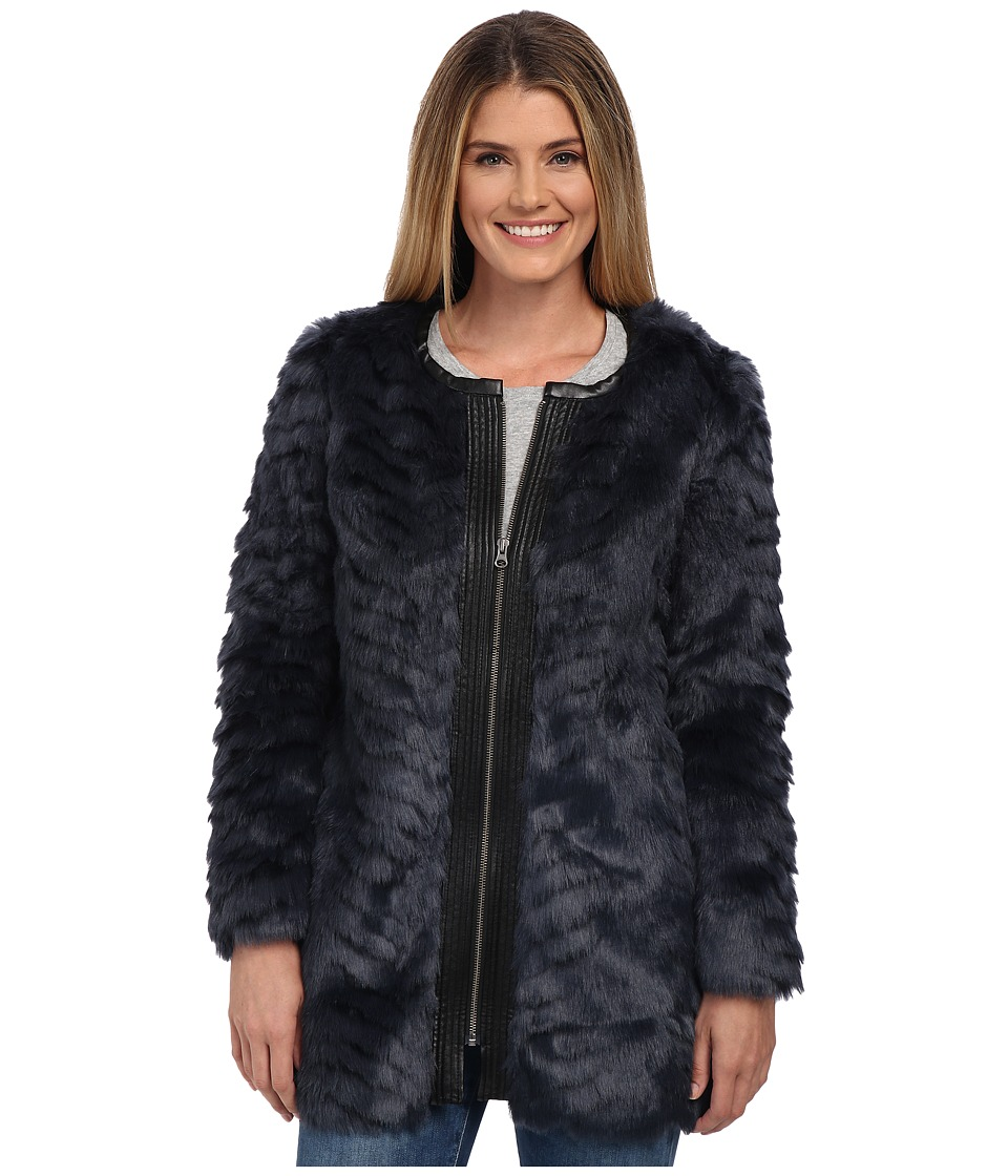 NYDJ - Magical Fur Coat (Knight Blue) Women's Coat