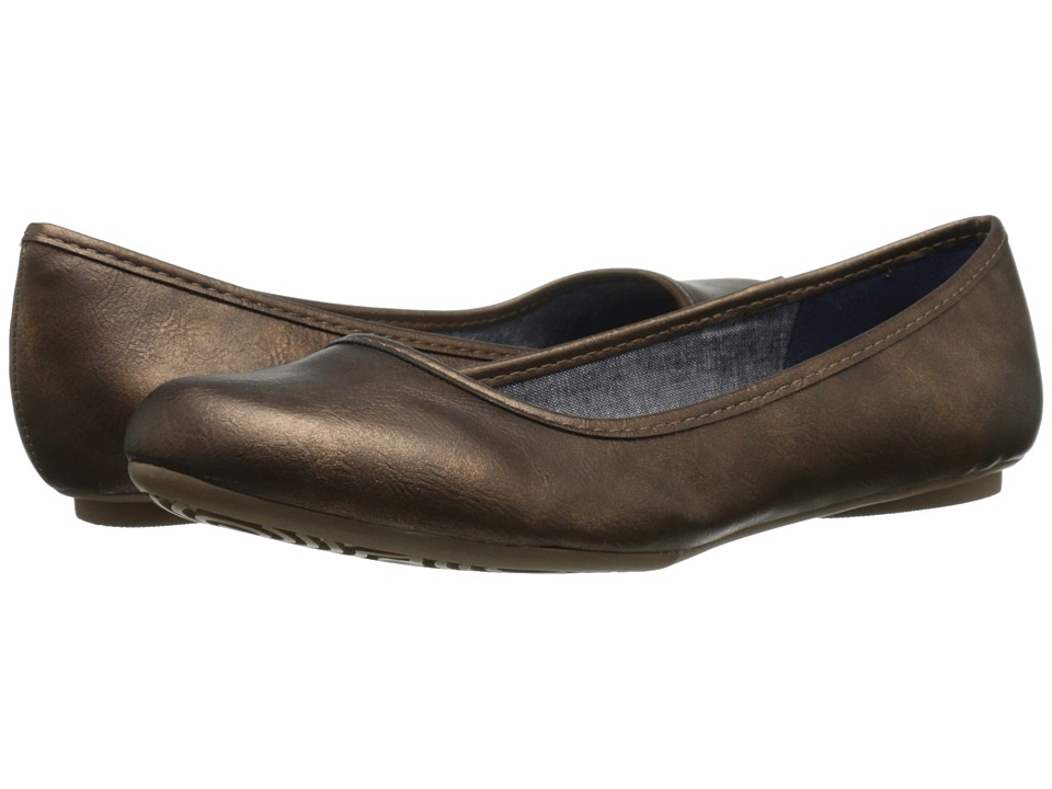 Dr. Scholl's - Friendly (Bronze) Women's Flat Shoes