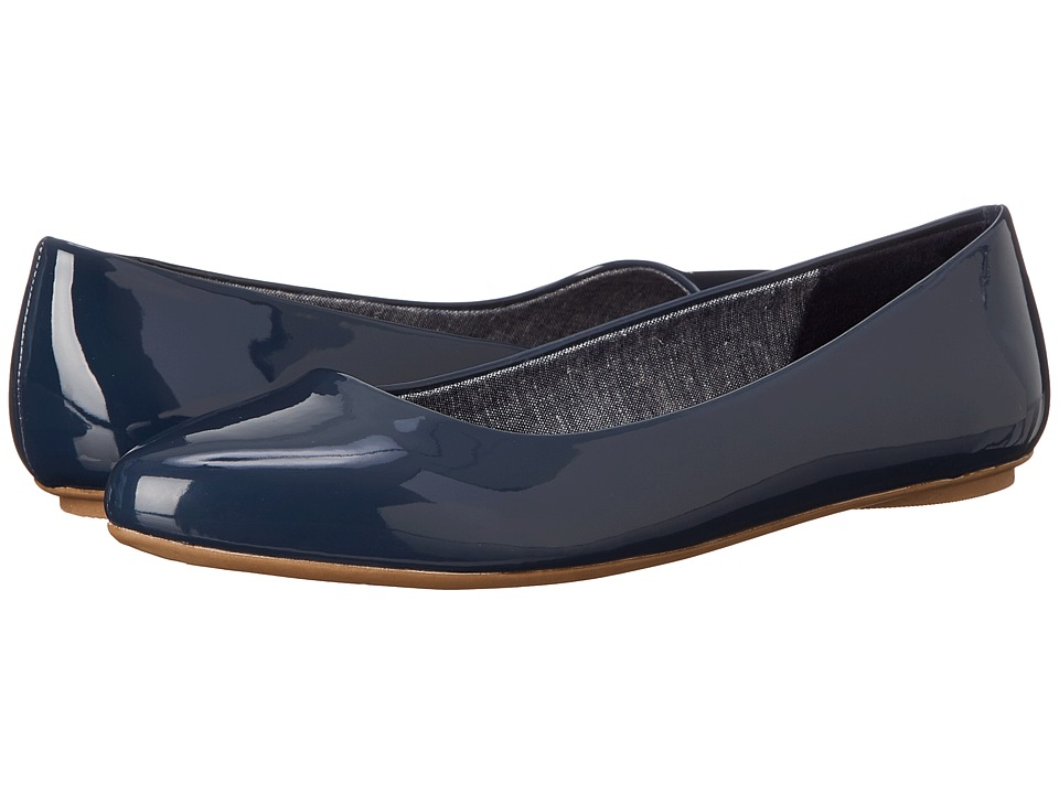 Dr. Scholl's - Really (Navy Patent) Women's Flat Shoes