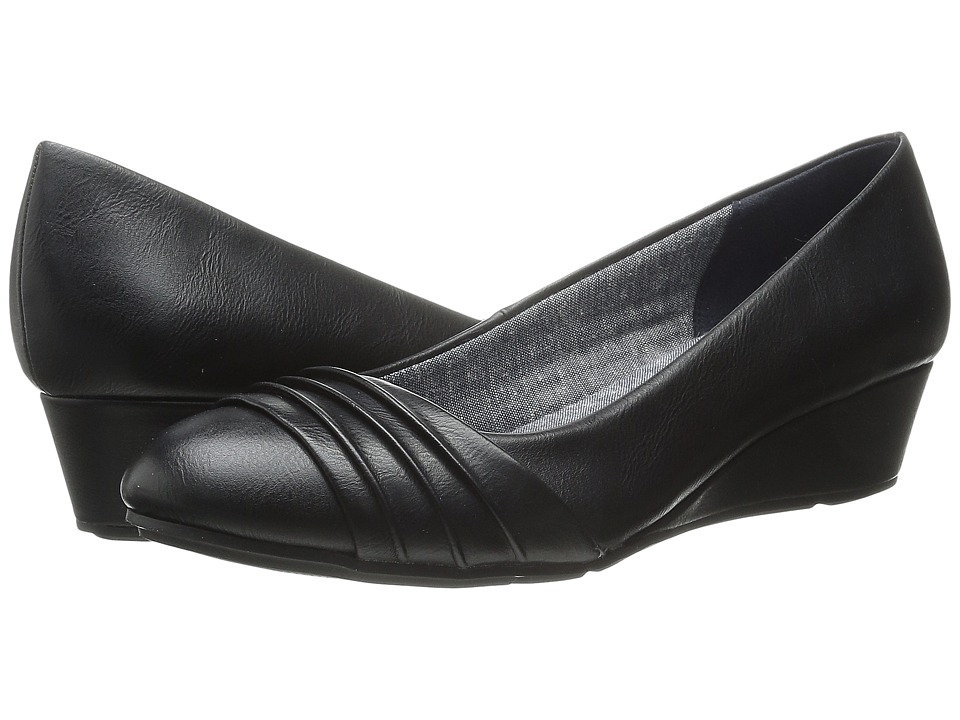 Dr. Scholl's - Vernier (Black Smooth) Women's Flat Shoes