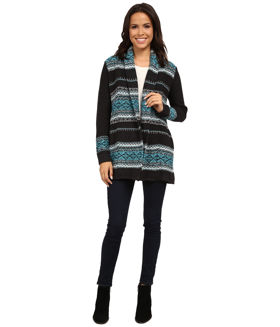 NYDJ - Car Coat Sweater (Studio Teal) Women's Sweater