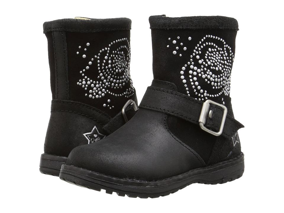 Primigi Kids - Angela (Toddler/Little Kid) (Black/Black) Girl's Shoes