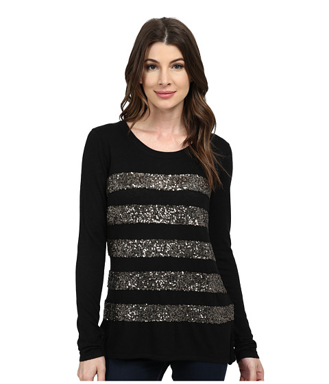 NYDJ - Fine Gauge Stripe Dequin Sweater (Bronze) Women's Sweater