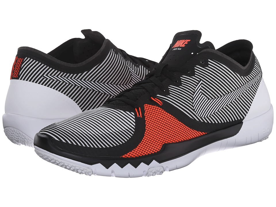 Nike - Free Trainer 3.0 V4 (Black/Bright Crimson/White) Men's Cross Training Shoes