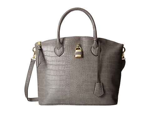 London Fog - Brixton Large Dome (Grey Croco) Satchel Handbags