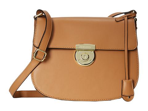 London Fog - Stewart Saddle Bag (Camel) Satchel Handbags