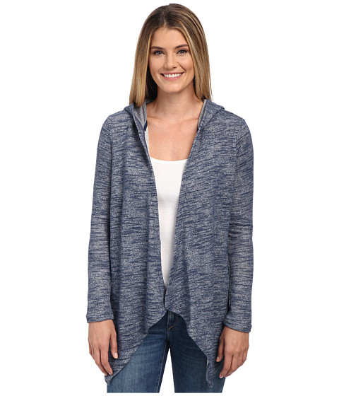 NYDJ - City/Sport French Terry Cocoon Cardigan (Knight Blue) Women's Sweater