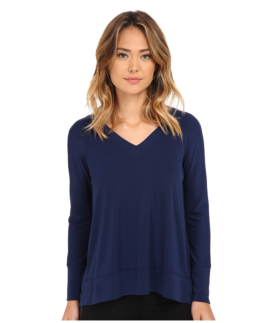 NYDJ - City/Sport Matte Jersey Raglan Tee (Knight Blue) Women