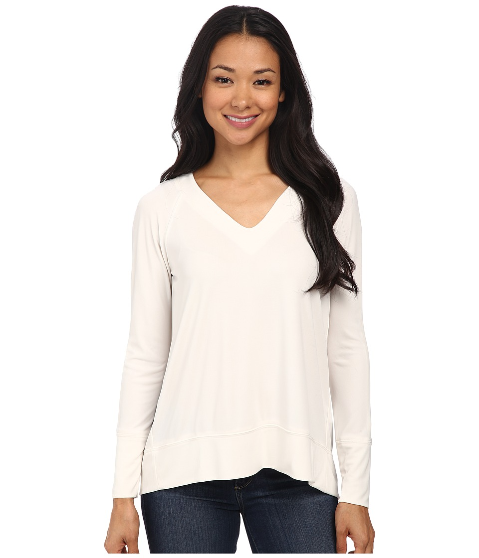 NYDJ - City/Sport Matte Jersey Raglan Tee (Vanilla) Women's T Shirt