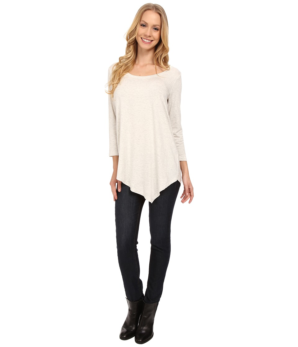 NYDJ - City/Sport Leah Basic 3/4 Sleeve Tee (Vanilla) Women's T Shirt